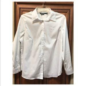 Ralph Lauren No Iron Button Front Blouse 1X